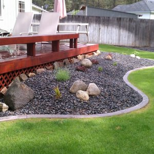 Backyard Landscape Edging