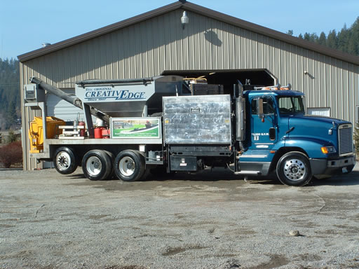 Creative Edge One-of-a-kind Mixing Truck for Concrete Edging